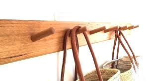 wall hanging coat rack hooks mounted wooden