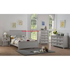 Victoria 2 Piece Full Size Gray Wood Contemporary Kids Bedroom Set ...