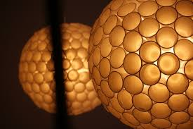 recycled lighting. Ceiling Light Made With Recycled Plastic Glasses - Pendant-lighting Lighting G