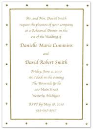 Gold Dotted Border Rehearsal Dinner Invitations wedding rehearsal dinner invitations wording & etiquette storkie on when to send wedding rehearsal invitations