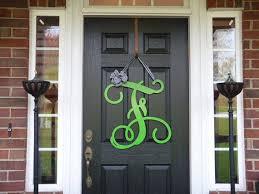 front door lettersShop Monogram Metal Door Wreath on Wanelo
