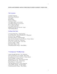 Wedding Music List Template Kayskehauk Design Ideas Of Great Wedding