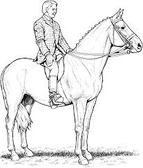 Coloring Pages Horses Jumping Vi Ddress