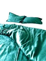 forest green duvet cover emerald bedspread covers linen