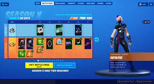 Fortnite Season 4 Level Chart Battle Pass Fortnite Wiki