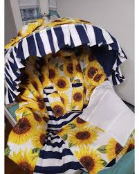 sunflowers infant baby car seat cover
