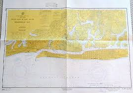 Vintage Nautical Charts Vintage Nautical Chart Map Hempstead Bay South Coast Of Long