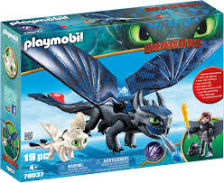 How To Train Your Dragon 3 Playmobil Light Fury Playmobil How To Train Your Dragon Iii Hiccup Toothless With Baby Dragon
