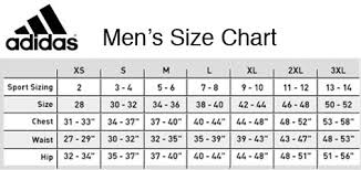 Adidas Mens Shirt Size Chart Adidas Size Chart Mens Best Picture Of Chart Anyimage Org