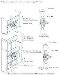 standard tub depth shower valve rough in height standard within tub prepare standard garden tub depth