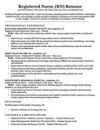 Registered Nurse Resume Examples Impressive Registered Nurse RN Sample Download Resume Examples For Nurses