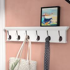 6 Hook Coat Rack Extraordinary Beachcrest Home Amityville 32 Hook Coat Rack Reviews Wayfair