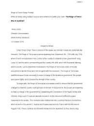 reign of terror essay ap test us history essay interactive a  reignofterroressayprompt anniejones reign of terror human reignofterroressayprompt anniejones 1 reign of terror human rights abuses