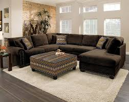 sectional sofa with chaise. Sectional Sofa With Chaise For Livingroom: Admirable Design Of Chocolate Brown