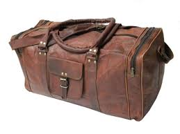 new 24 genuine leather duffle bag men overnight carry on travel luggage gym