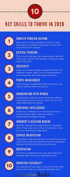 10 Key Skills To Thrive In 2020 Career Tips Resume