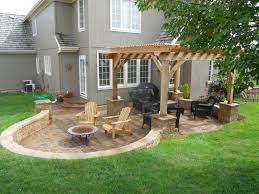 simple brick patio designs. Simple Brick Patio With Pergola Designs And Ideas Large Outdoor Backyard 2017 Hardscape Retaining Wall F L M S