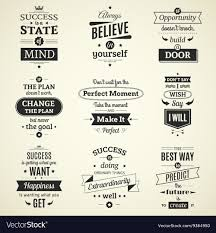 Success Posters Success Quotes Typographical Posters Royalty Free Vector
