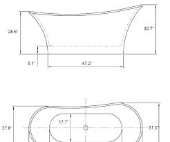 bathtub size bathroom bathtub standard size in mm