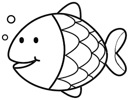 Easy Coloring Pages Clipart Fish Coloring Page Free Kids