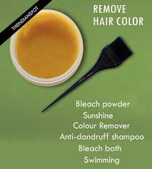 ways to remove hair color easily the