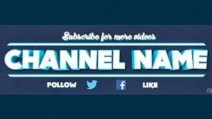 Youtube Template Psd Template Banner Psd