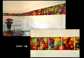 kitchen tiles with fruit design. fruit strip backsplash kitchen tiles with design e