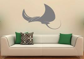 Shark Bedroom Decor Stingray Wall Decal Etsy