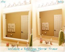 Bathroom Mirror Frame Installing Bathroom Mirror Frames
