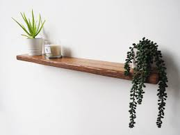 rustic oak floating shelves