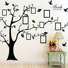 tree wall art x large family tree birds photo frame quotes wall stickers art decal home decor on family tree wall art picture frame with wall art designs tree wall art x large family tree birds photo
