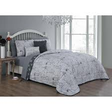 belle 9 piece grey king quilt set