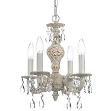 antique white chandelier market collection 4 light antique white elements spectra crystal mini chandelier sutton 6