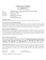 Court Clerk Cover Letter Resume And Cover Letter Resume And