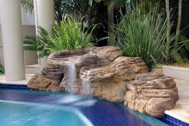 In ground pools with waterfalls Landscaping Kits Pool Waterfall Kits Pool Waterfall Cipriano Landscape Design Waterfalls For Pool Swimming Pool Waterfalls Universal Rocks