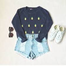 converse jumper. shorts grey pineapple fruits sweater winter outfits jumper navy denim converse indie pinapple black o