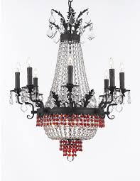 details about french empire crystal chandelier chandeliers lighting 25x32 12 lights