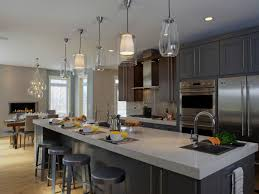 pendant lighting for kitchen island ideas white farmhouse kitchen sink copper grohe faucet glass front upper