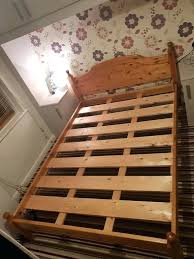 heavy duty wood bed frame solid wooden double going grab a bargain modern sleep slats heavy duty wood bed