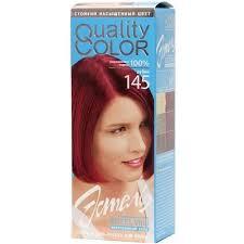 <b>Стойкая гель</b>-<b>краска для волос</b> Эстель Quality Color цвет рубин ...