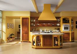 Kitchen  Italian Kitchen Design With Dark Brown Oak Cabinet And - Italian kitchens