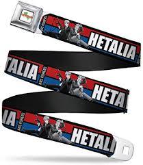 Amazon.com: Hetalia Axis Powers Stripe Red/blue/gray Seatbelt Belt: Clothing