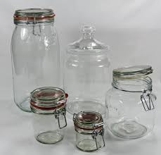 glass storage jar e jar sweetie jar storage pot powder pot