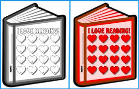 Reading Sticker Chart I Love Reading Sticker Charts Book Templates