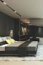 contemporer bedroom ideas large. Bedroom , Masculine Mens Ideas : Modern With Black Wall And Large Mirror Recessed Lighting Contemporer S