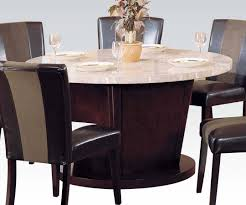 Britney Transitional White Walnut Marble Wood Round Dining Table