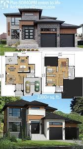 plan pm multi level modern house plan