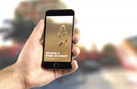 apple iphone iphone 6 mockup hand app modern smartphone d