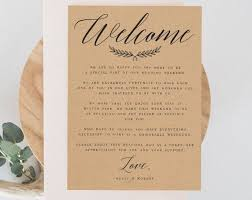 Welcome Card Templates Kraft Rustic Welcome Wedding Letter Template Welcome Note