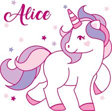 personalized unicorn wall decal sticker art mural nursery decor girls room b076c58kyd